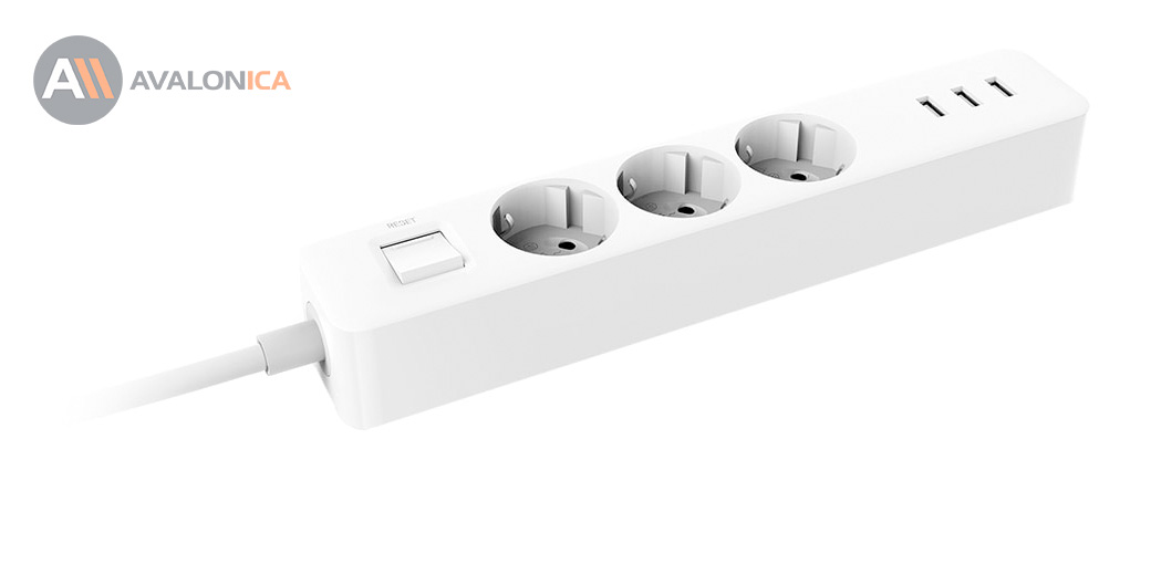 Сетевой Удлинитель Xiaomi Mi Power Strip  (3 розетки + 3 USB-port)