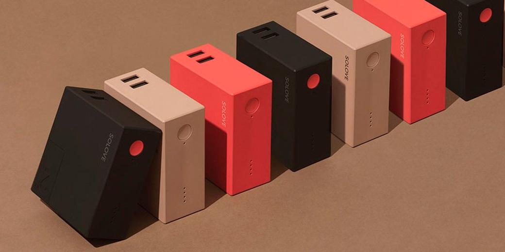 Внешний аккумулятор Xiaomi (Mi) SOLOVE 5000mAh (W2red), 3 сменных вилки EU,UK,CN