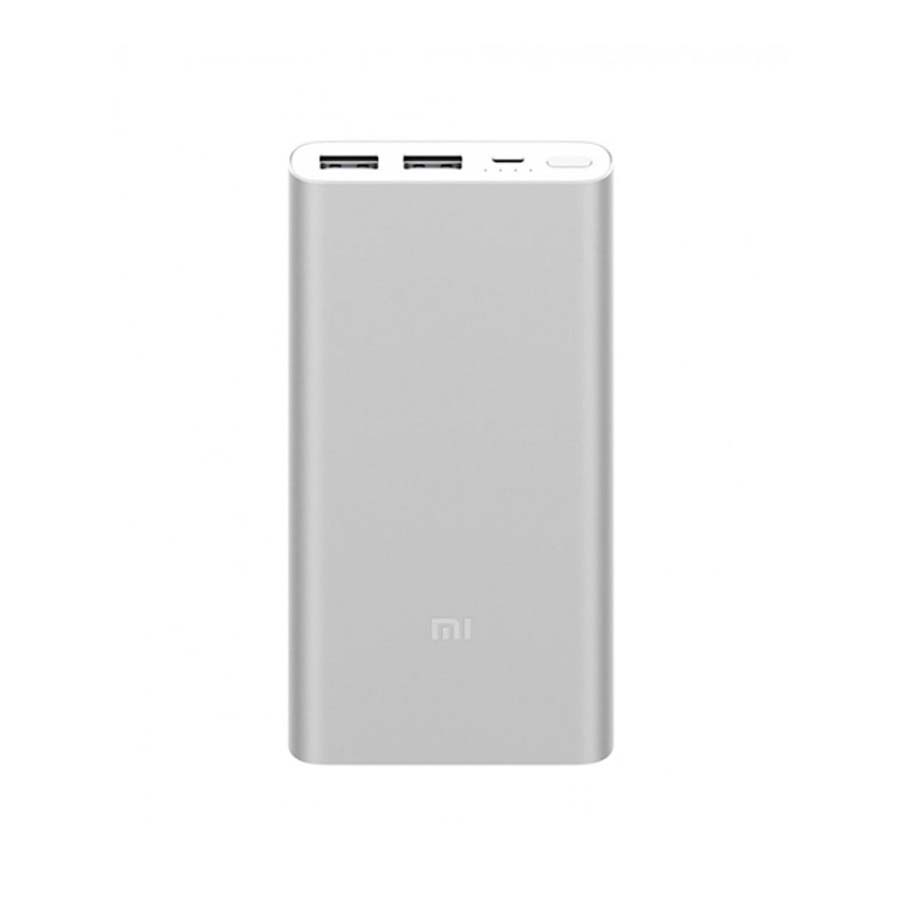 Внешний аккумулятор Xiaomi Mi Power Bank 2i 2USB 10000 mAh Silver