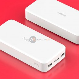 Внешний аккумулятор Power Bank Xiaomi (Mi) REDMI 20000mAh Dual USB/USB Type-C Белый