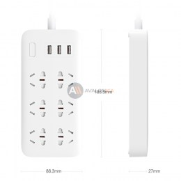 Сетевой удлинитель Xiaomi Mi Power Strip 3 USB 6 розетки White