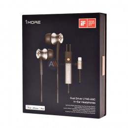 Стерео-наушники 1MORE E1004 Dual-Driver LTNG ANC In-Ear Headphone Grey
