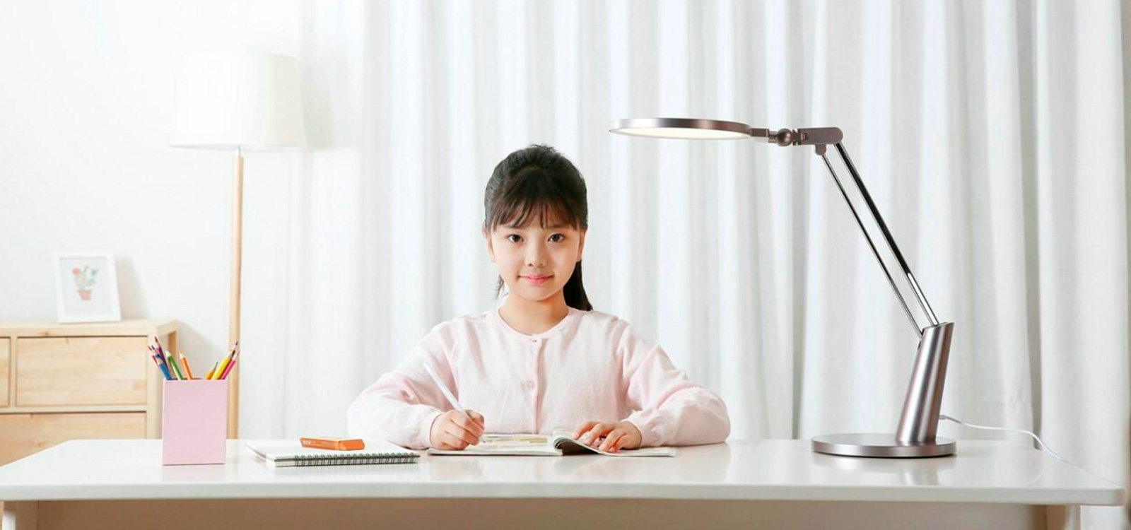 Настольная лампа Xiaomi (Mi) Philips Zhiyi LED Desk Light Stand Table Lamp