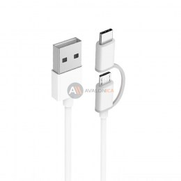 Кабель 2in1 USB Type-C/Micro Xiaomi (Mi) 100см White
